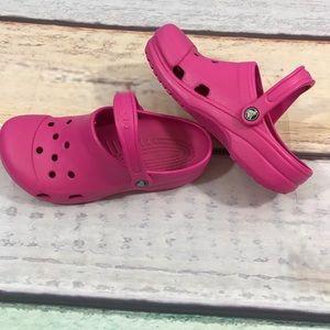 Shoes - Pink Crocs, Size Medium W 8-9 & M 6-7